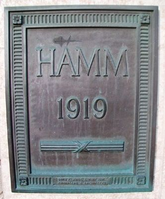 Hamm Building Name Plate image. Click for full size.