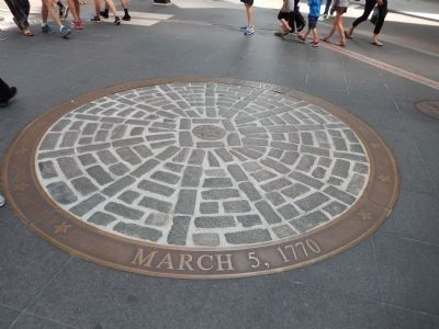 Site of The Boston Massacre image. Click for full size.