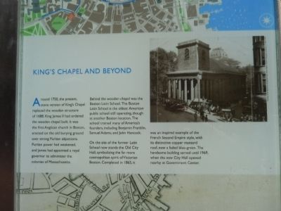 King's Chapel and Beyond Marker image. Click for full size.