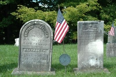 Two Headstones in the Old Hagaman Cemetery image. Click for full size.
