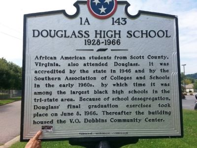 Douglas High School Marker image. Click for full size.