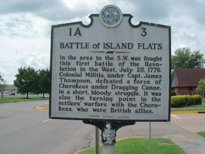 Battle of Island Flats Marker image. Click for full size.