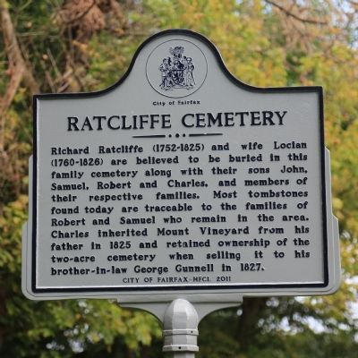 Ratcliffe Cemetery Marker image. Click for full size.