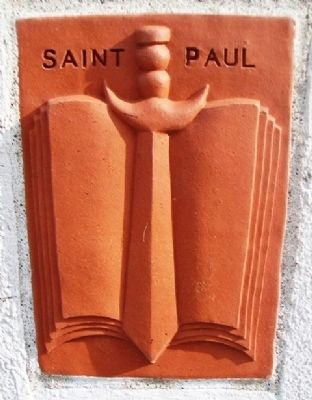 History of Saint Paul Terra Cotta Panel image. Click for full size.