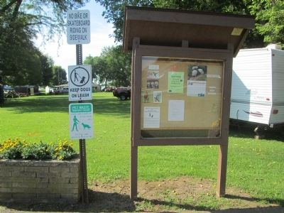 West Liberty Lion's Club Park Information Bulletin Board image. Click for full size.