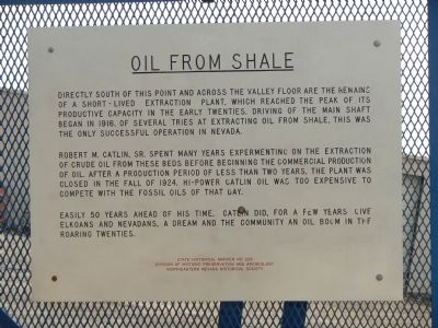 Oil From Shale Marker image. Click for full size.