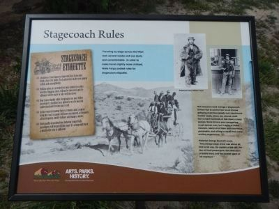 Stagecoach Rules Plaque image. Click for full size.