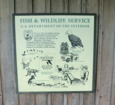 Fish & Wildlife Service Marker image. Click for full size.