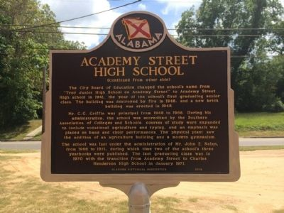 Academy Street High School Marker (Side 2) image. Click for full size.