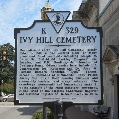 Ivy Hill Cemetery Marker image. Click for full size.