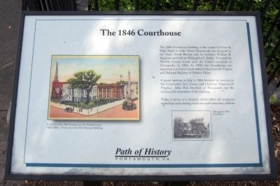 The 1846 Courthouse Marker image. Click for full size.