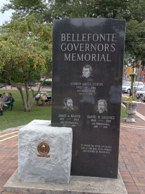 Bellefonte Governors Memorial Marker Side 2 image. Click for full size.