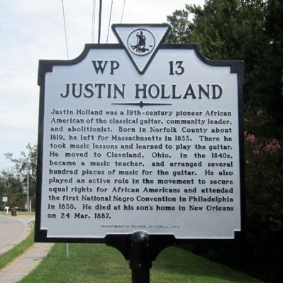 Justin Holland Marker image. Click for full size.