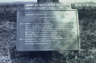Blount's Battery - Dearing's Battalion Marker image. Click for full size.