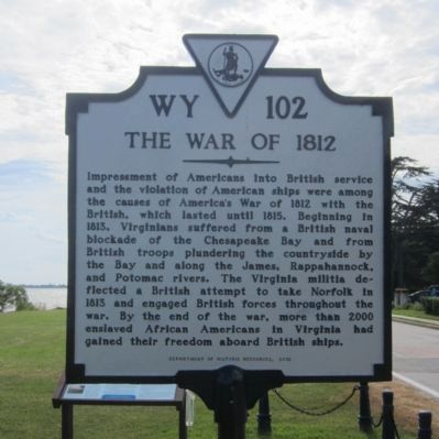 The War of 1812 Marker image. Click for full size.