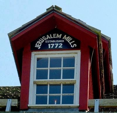 Jerusalem Mills<br>Established 1772 image. Click for full size.