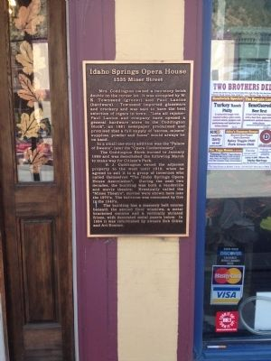 Idaho Springs Opera House Marker image. Click for full size.
