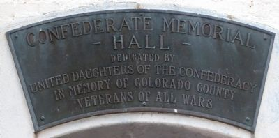 Confederate Memorial Museum Plaque Above Entrance image. Click for full size.