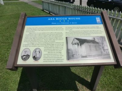 Asa Briggs House Marker image. Click for full size.