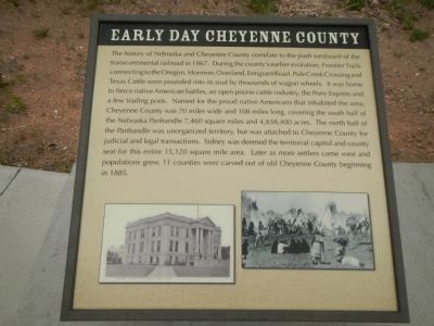 Early Day Cheyenne County Plaque, Hickory Square Marker image. Click for full size.