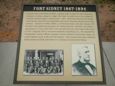 Fort Sidney 1867-1874 Plaque, Hickory Square Marker image. Click for full size.