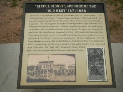 """Sinful Sidney"", Scourge of the ""Old West"" 1871-1888 Plaque, Hickory Square Marker image. Click for full size."