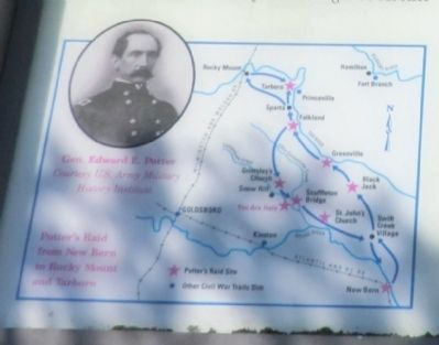 Close up of map on the Hookerton Defenses Marker image. Click for full size.