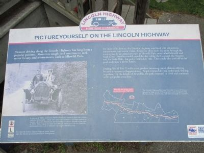 Picture Yourself on the Lincoln Highway Marker image. Click for full size.