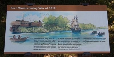 Fort Miamis During the War of 1812 Marker image. Click for full size.