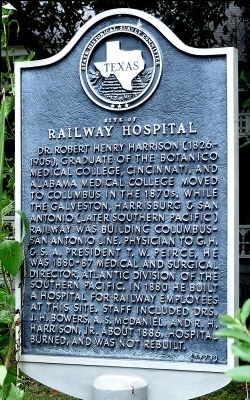 Railway Hospital Marker image. Click for full size.