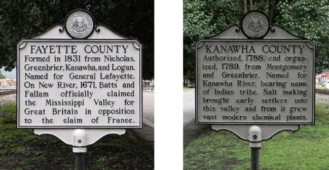 Fayette County / Kanawha County Marker image. Click for full size.
