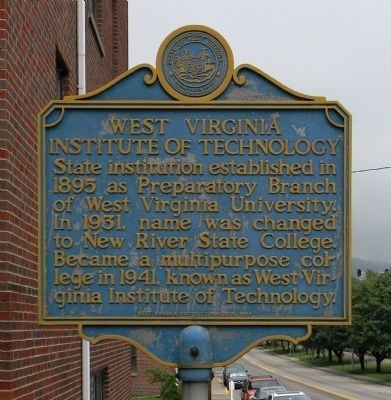 West Virginia Institute of Technology Marker image. Click for full size.
