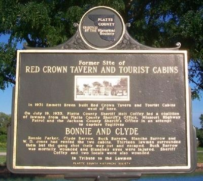Former Site of Red Crown Tavern and Tourist Cabins Marker image. Click for full size.