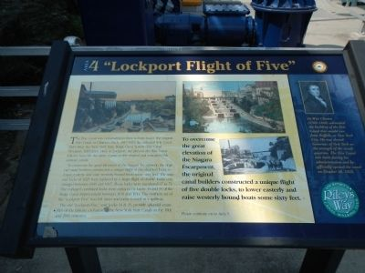 """Lockport Flight of Five"" Marker image. Click for full size."