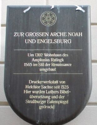 House for the Great Ark of Noah and Engelsburg Marker image. Click for full size.