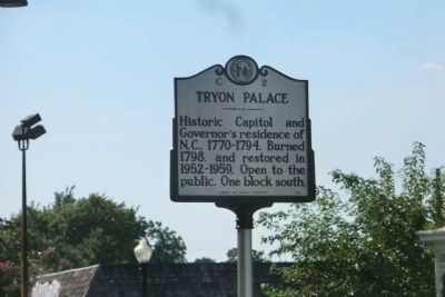 Tryon Palace Marker image. Click for full size.