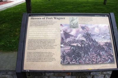 Heroes of Fort Wagner Marker image. Click for full size.