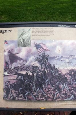 Storming Fort Wagner image. Click for full size.
