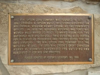 W.H. Upson Coal Company Building Marker image. Click for full size.