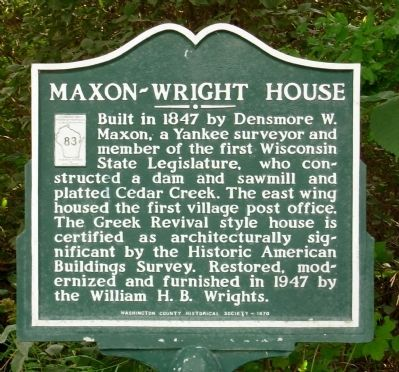 Maxon-Wright House Marker image. Click for full size.