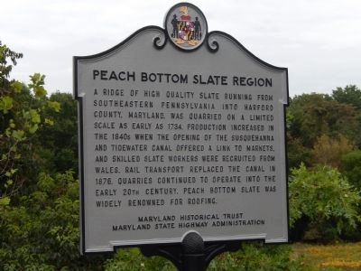 Peach Bottom Slate Region Marker Photo, Click for full size