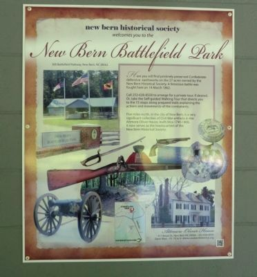 New Bern Battlefield Park Marker image. Click for full size.