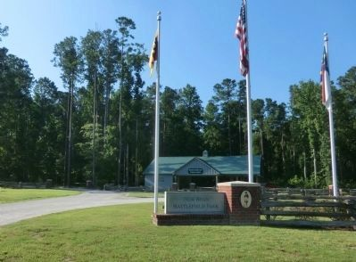 New Bern Battlefield Park Entrance image. Click for full size.