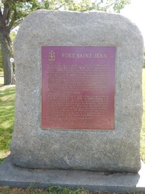 Fort Saint-Jean Marker image. Click for full size.
