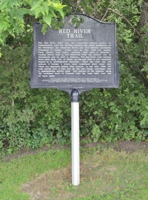 Red River Trail Marker image. Click for full size.