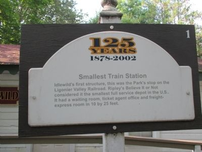 Smallest Train Station Marker image. Click for full size.