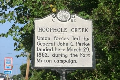 Hoophole Creek Marker image. Click for full size.