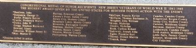 New Jersey Congressional Medal of Honor List image. Click for full size.