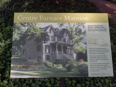 Centre Furnace Mansion Marker image. Click for full size.
