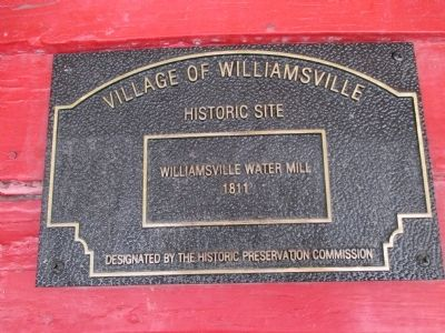 Williamsville Water Mill Plaque image. Click for full size.